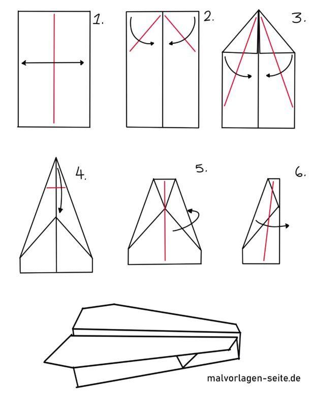 Folding Guide Paper Airplane Handicraft