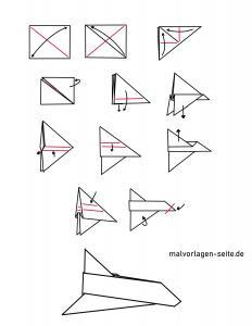 Instructions paper planes fold to print