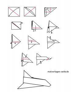 Anleitung Papierflieger falten zum Ausdrucken