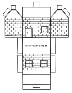 Papierhaus Faltanleitung - Haus aus Papier falten