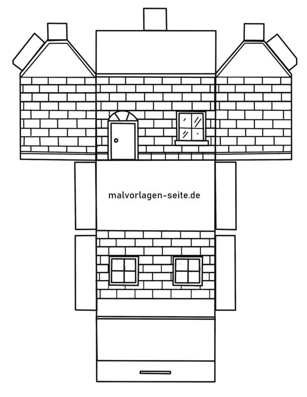Papierhaus Faltanleitung