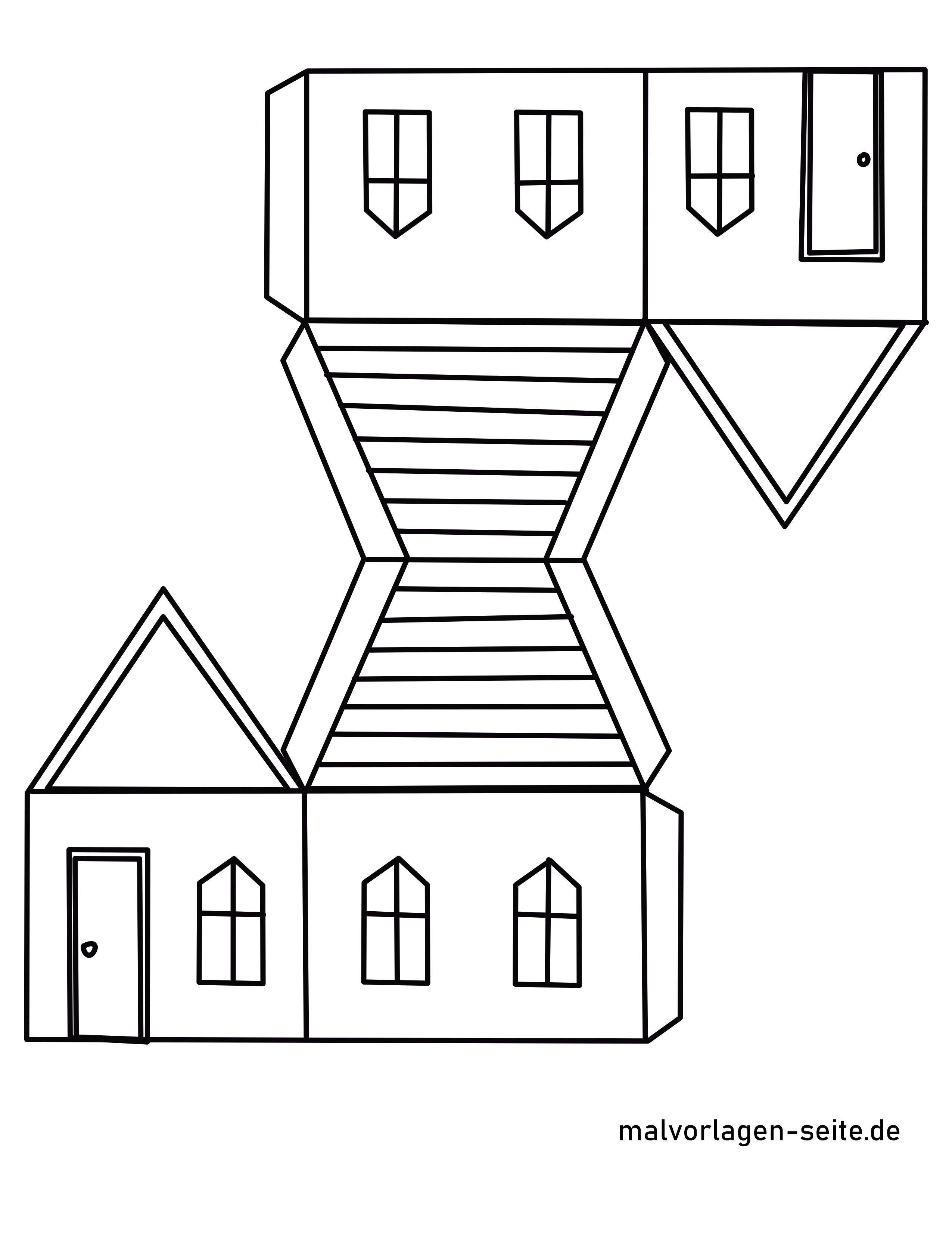 Fensterbild Haus Vorlage Google Search Windlichter