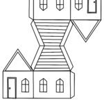 Paper house craft sheet template