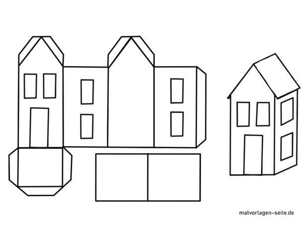 Haus aus Papier falten - Papierhaus basteln
