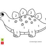 Pintar por números dinossauros