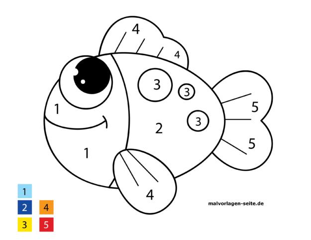 Malen nach Zahlen - Fisch