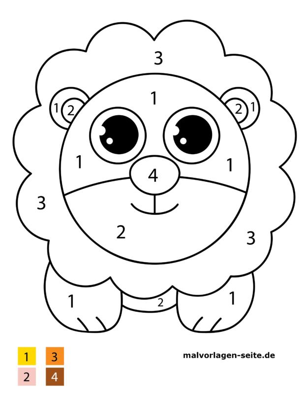 Malen nach Zahlen - Löwe