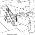 Coloring page boarding boarding