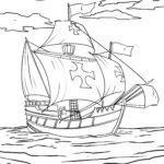 Coloring page Christopher Columbus | History persons