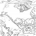 Coloring page hang gliding / hang gliding for coloring