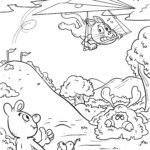 Coloring page hang gliding To fly