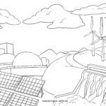 Coloring page energy production | Energy environmental protection