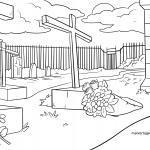 Malvorlage Friedhof zum Ausmalen
