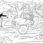 Coloring page SUV car