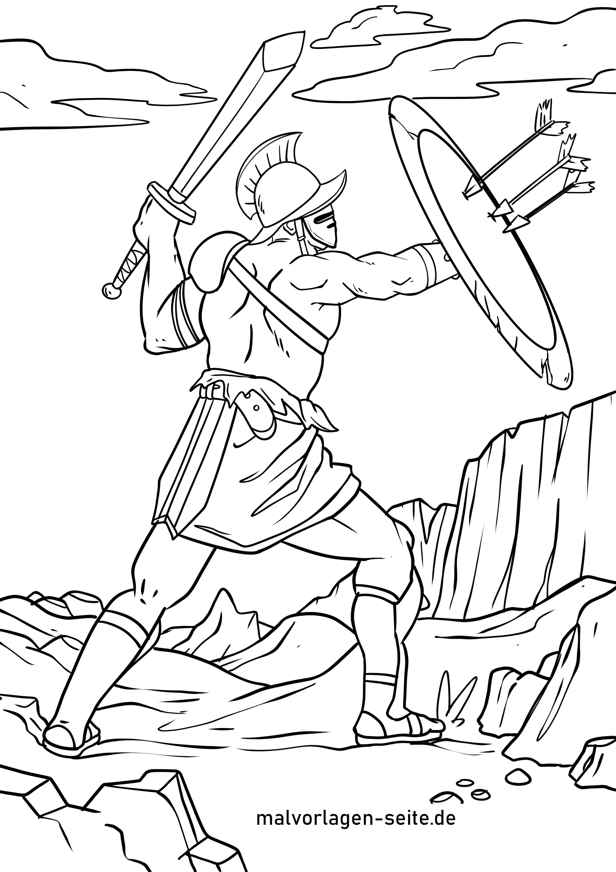 Malvorlage Gladiator Romer Geschichte Ausmalbilder Kostenlos