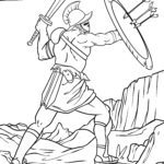 Coloring page Gladiator Romans | history