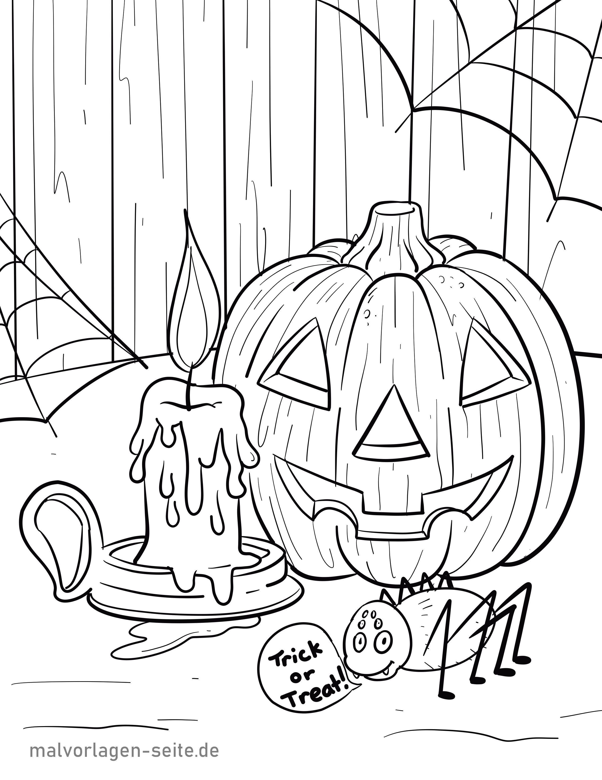 malvorlage halloween  feiertage  kostenlose ausmalbilder