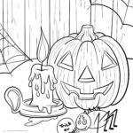 Coloring page Halloween | public holidays