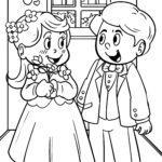 Malvorlage Hochzeit Heiraten