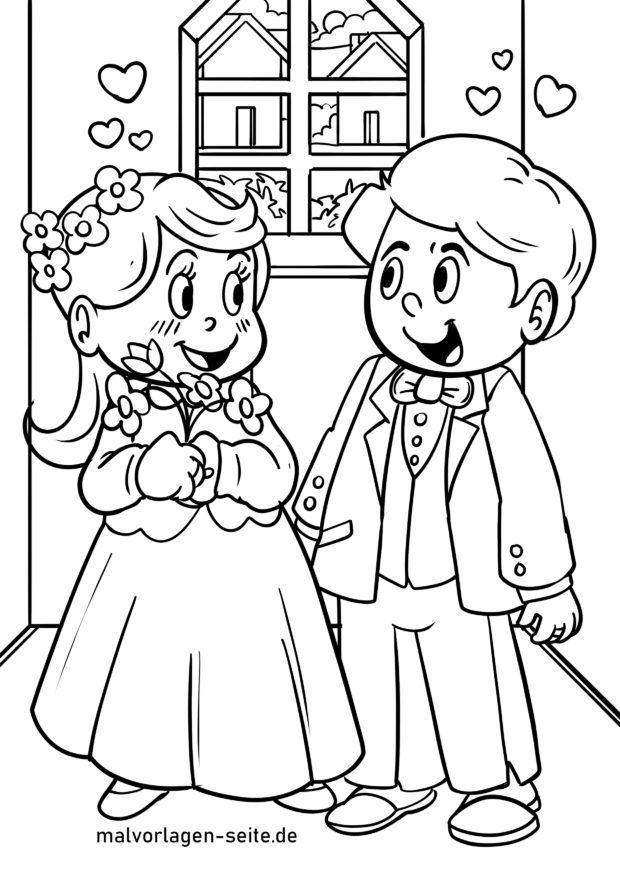 Malvorlage Hochzeit Heiraten Ausmalbilder Kostenlos