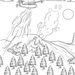Coloring page firefighting aircraft | plane