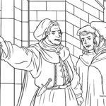 Coloring page Martin Luther | History persons