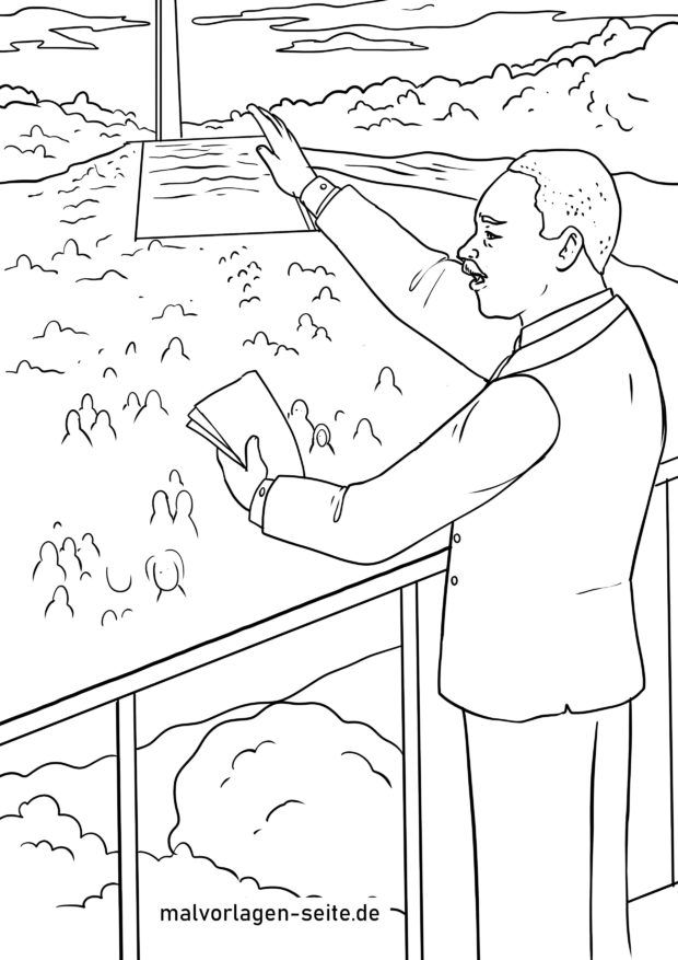 Martin Luther King Coloring Pages – coloring.rocks! | 877x620