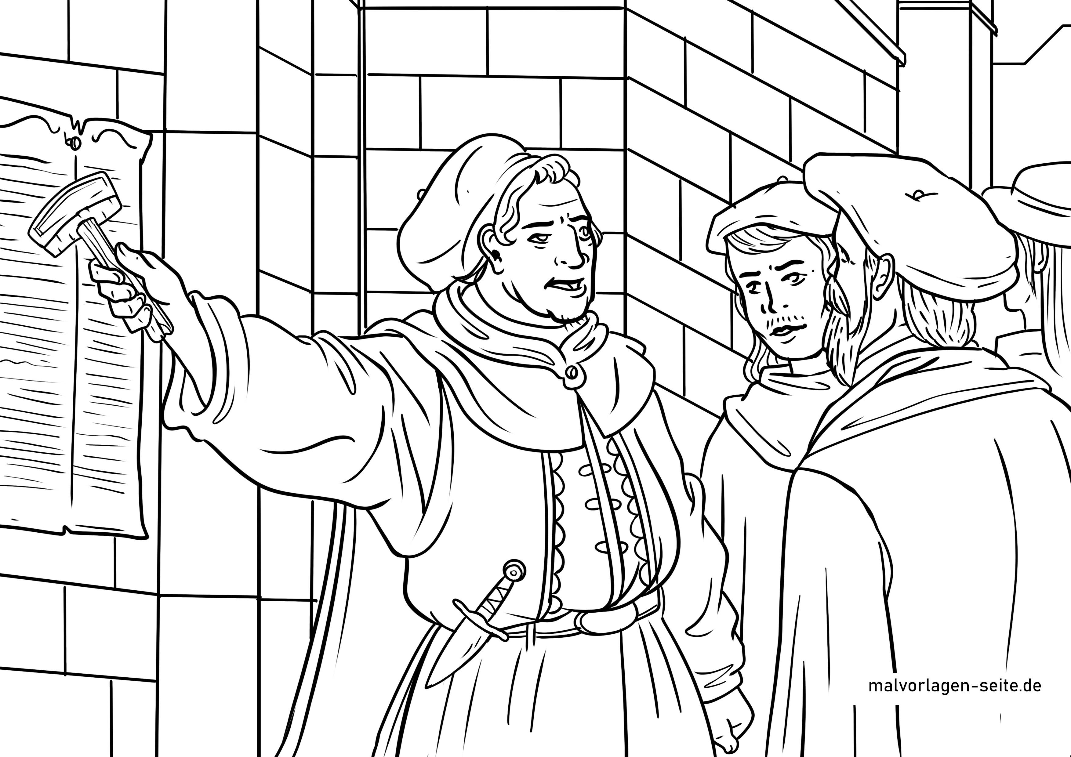 Malvorlage Martin Luther Geschichte Personen