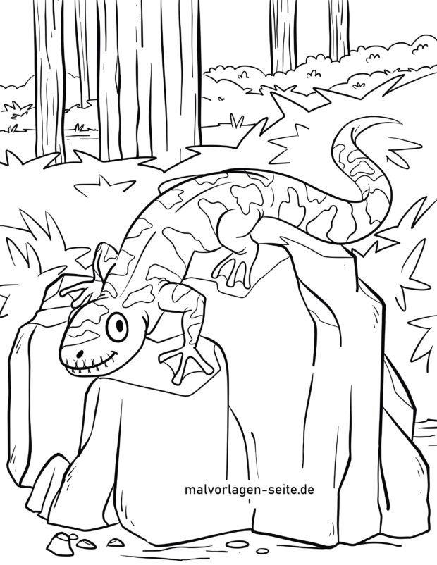 Coloring page Salamander