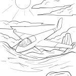 Coloring page glider for coloring