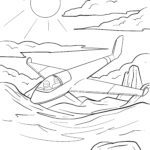 Coloring page glider | plane