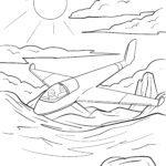 Malvorlage Segelflugzeug | Flugzeug