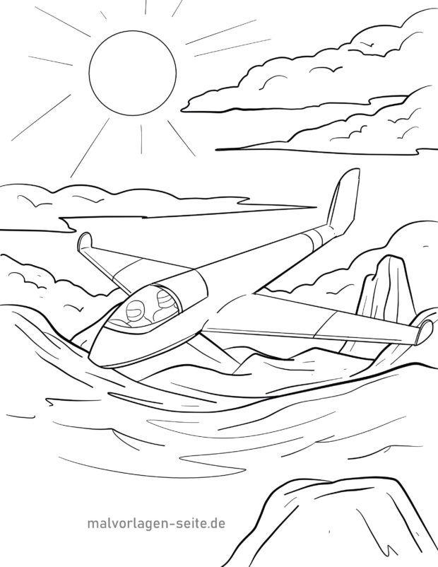 Malvorlage Segelflugzeug