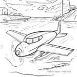 Malvorlage Wasserflugzeug | Flugzeug