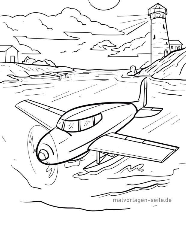 Malvorlage Wasserflugzeug