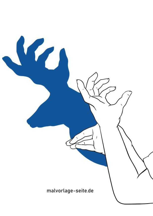 דמות צללית / צבי צללים ידיים
