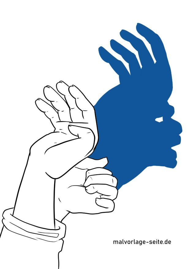 Schattenfigur / Handschatten Indianer