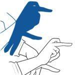ציפור צללית יד צללית