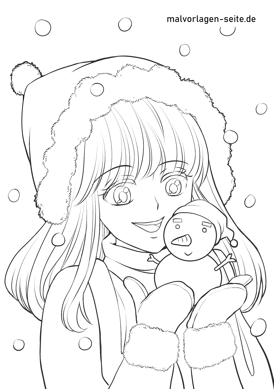 Malvorlage Anime Madchen Manga Comics Ausmalbilder Kostenlos