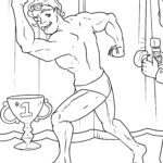 Coloring page Bodybuilding | Fitness sport