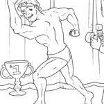 Malvorlage Bodybuilding | Fitness Sport