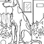Värvimisleht dalmaatsia keel koerad