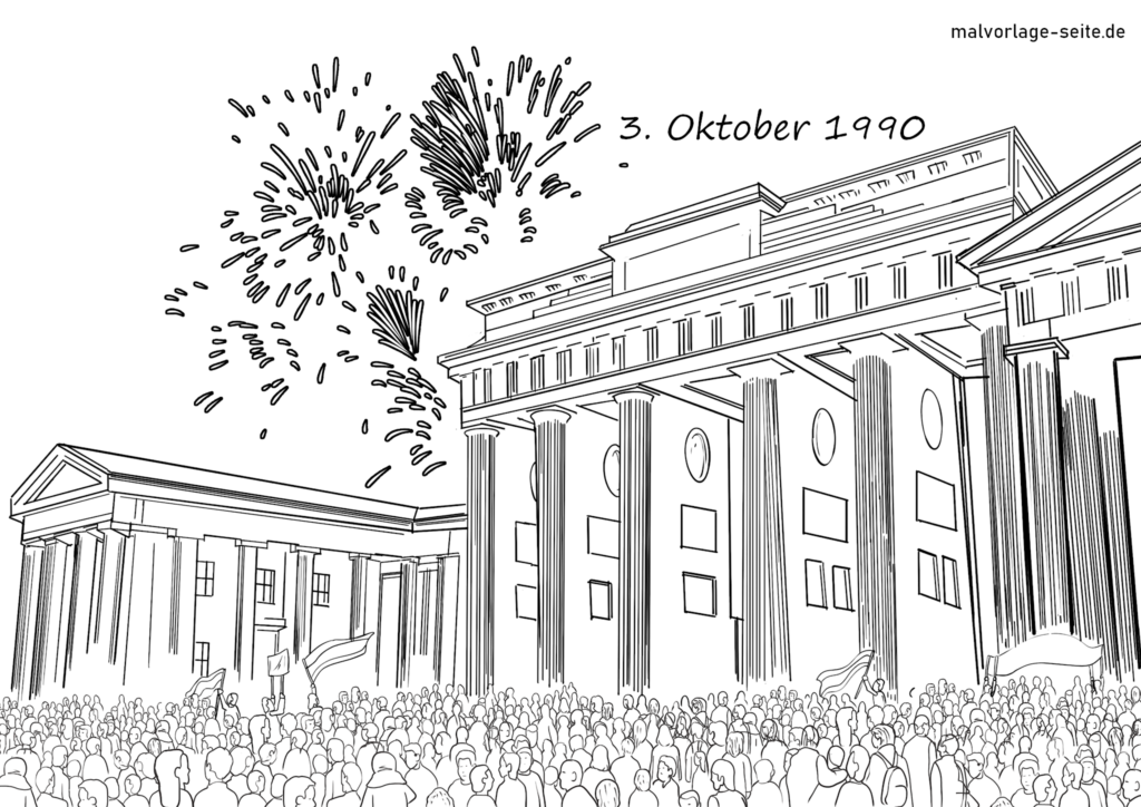 Coloring page German reunification | history
