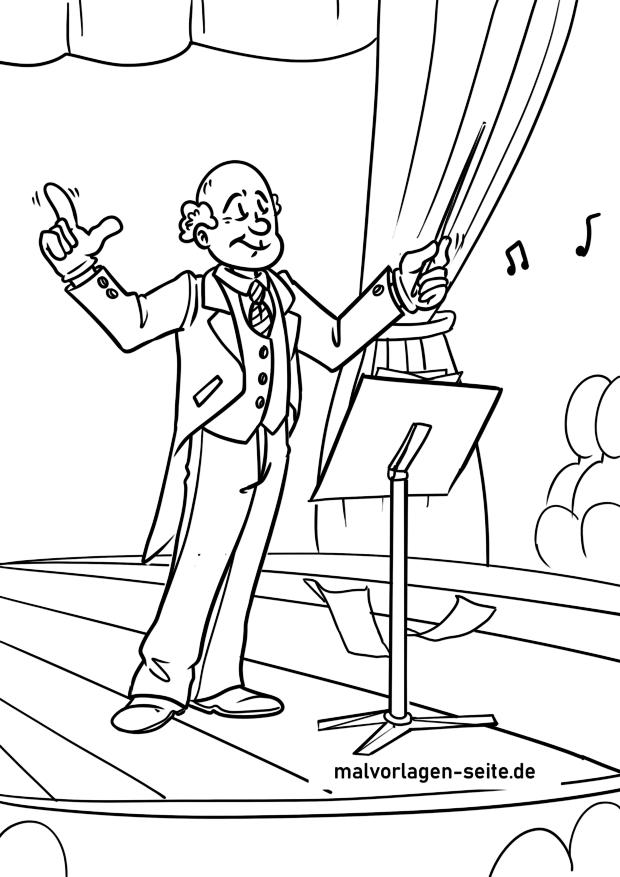 Malvorlage Dirigent