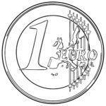 Coloring page euro coin | Money economy