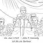 Страница за оцветяване Реч Джон Ф. Кенеди на 26.6.1963 - аз съм берлинчанин за оцветяване за деца