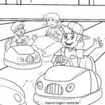 Coloring page fair car bumper | leisure