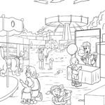 Coloring page fair / fair | leisure