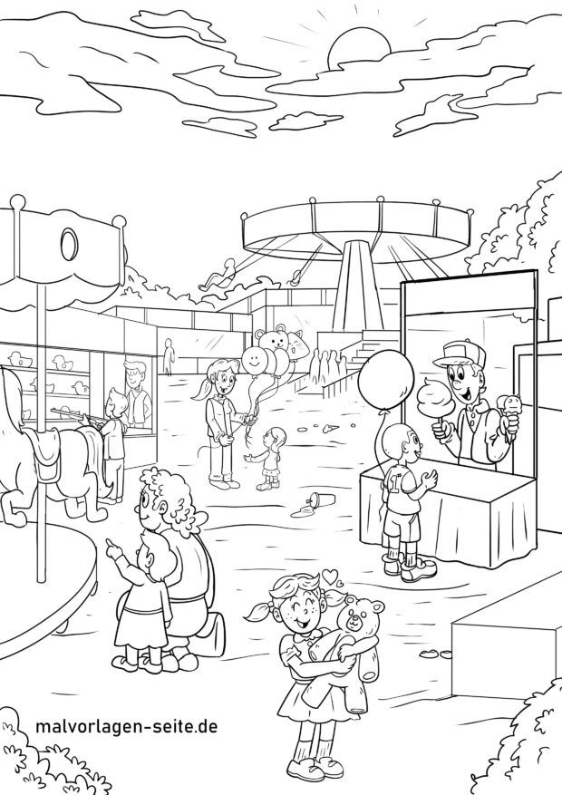 Coloring page Go to the fair