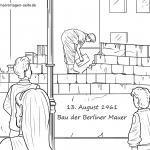 Изграждане на шаблони на Берлинската стена за оцветяване за деца